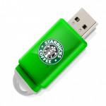 Clé USB Slider - vert pomme
