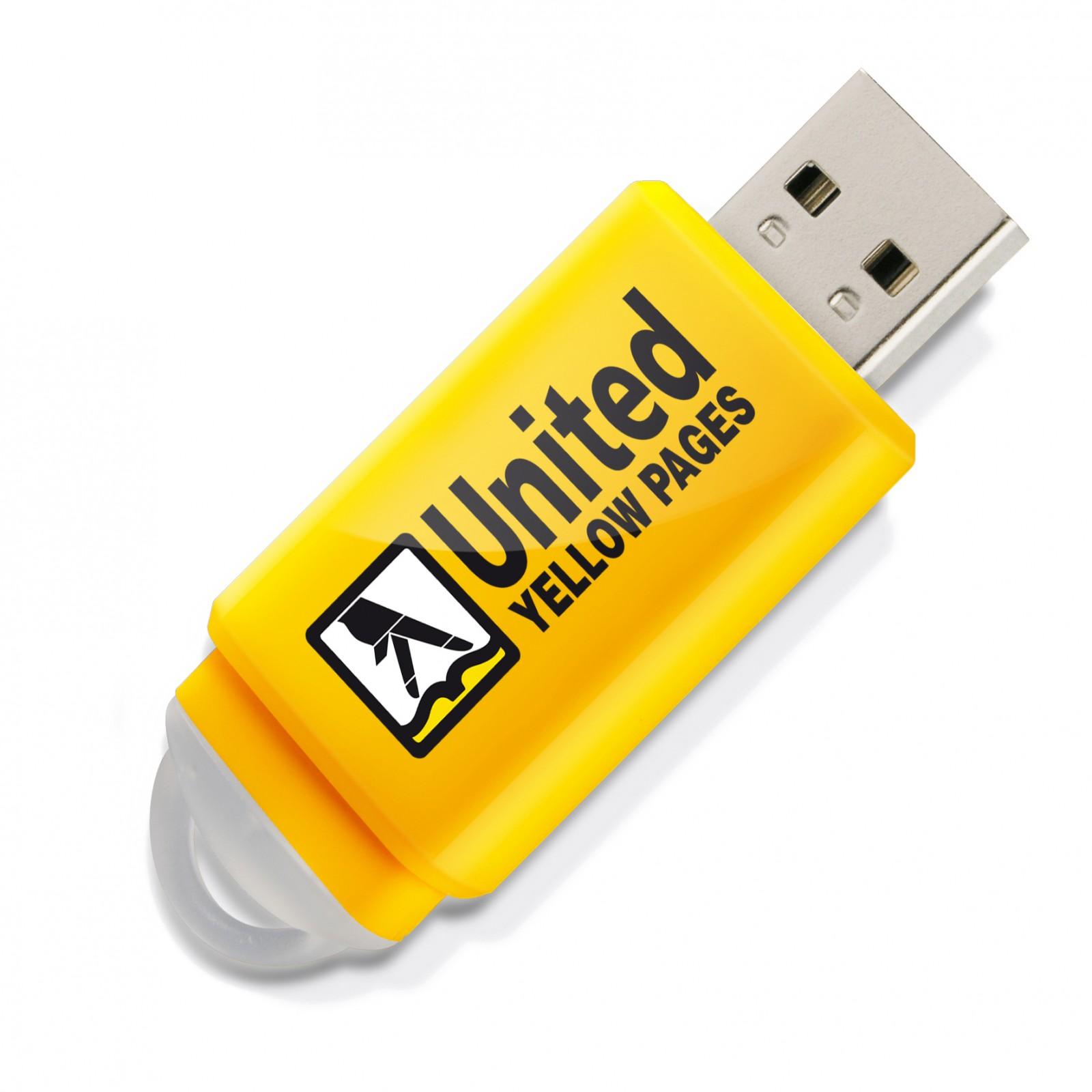 Clé USB Slider jaune