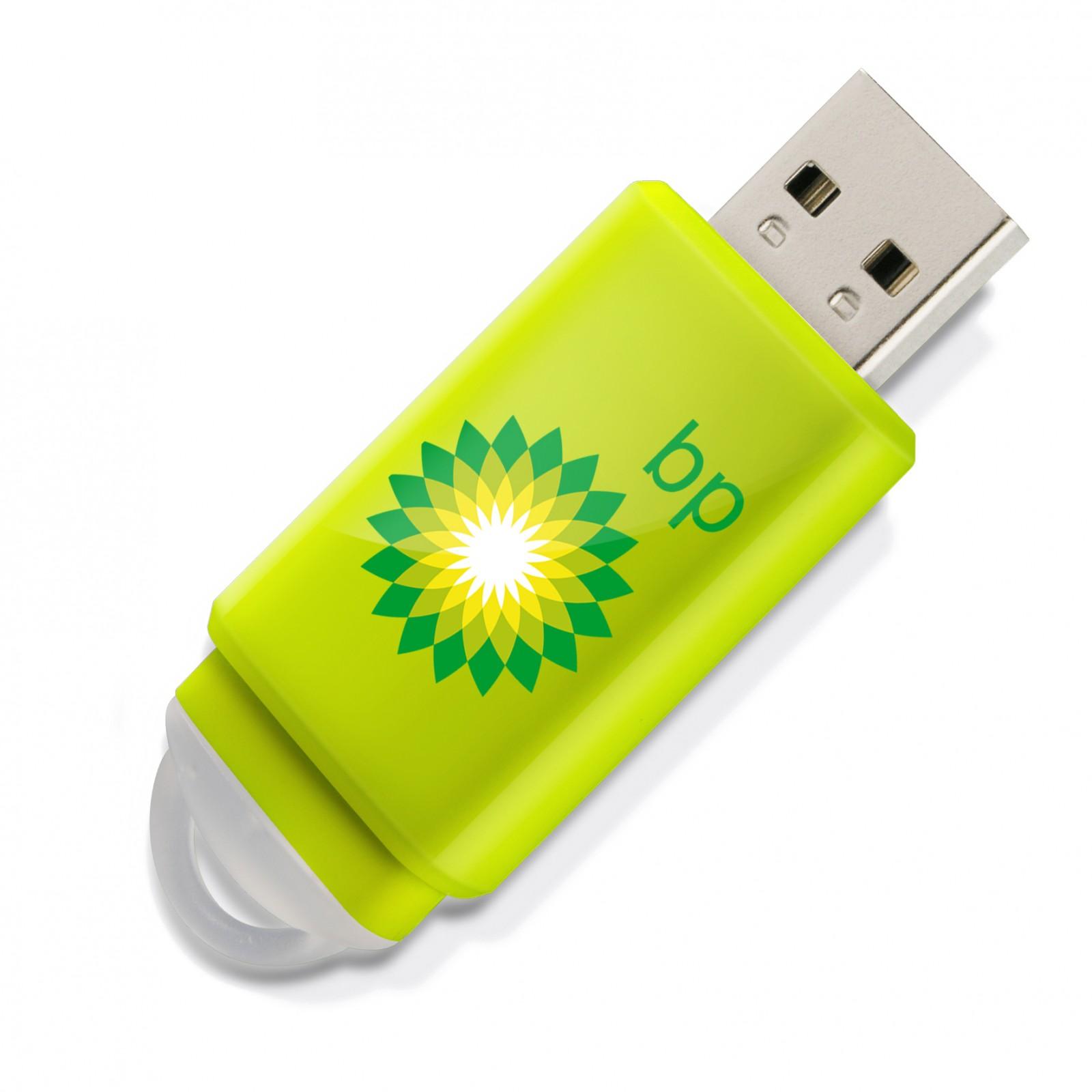 Clé USB Slider - vert lime